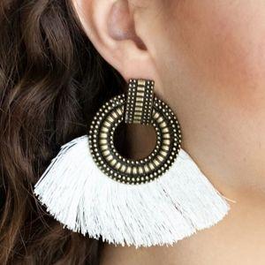 Brass earrings paparazzi